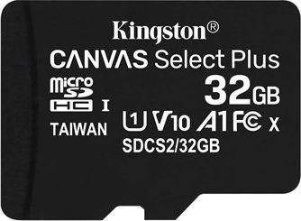 Karta Kingston Canvas Select Plus MicroSDHC 32 GB Class 10 UHS-I/U1 A1 V10 (SDCS2/32GBSP) 1