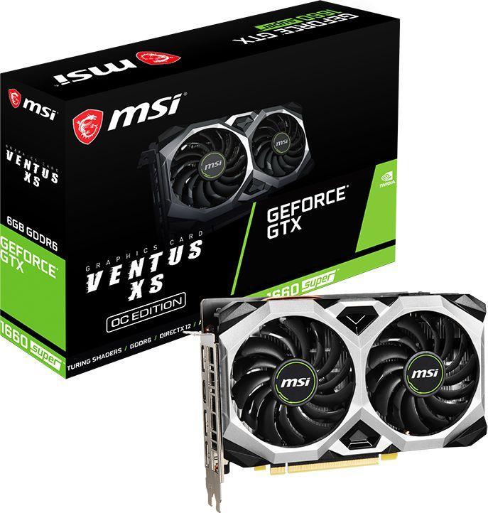 Karta graficzna MSI GeForce GTX 1660 SUPER Ventus XS OC 6GB GDDR6 (GTX 1660 SUPER VENTUS XS 6G OC) 1