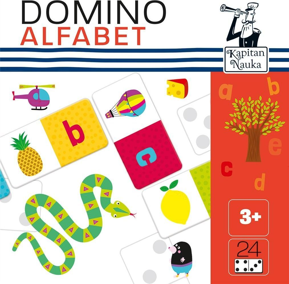 Edgard DOMINO OBRAZKOWE ALFABET KAPITAN NAUKA 1