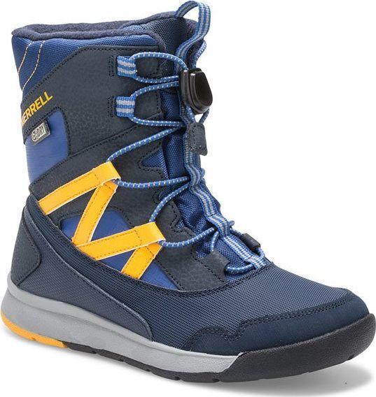 Merrell buty zimowe dziecięce M Snow Crush Waterproof MK261274 niebieskie