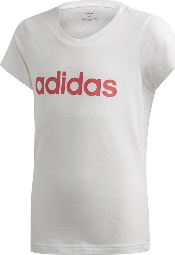 ADIDAS koszulka dziecięca krótki rękaw biała 140