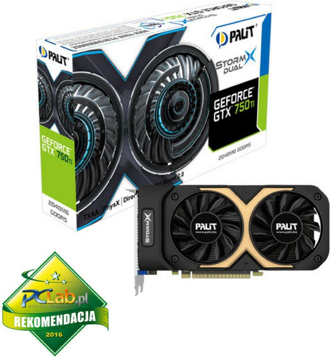Karta graficzna Palit GeForce GTX 750Ti 2GB DDR5 (128 bit) VGA, DVI, mHDMI (NE5X75TT1341F) 1
