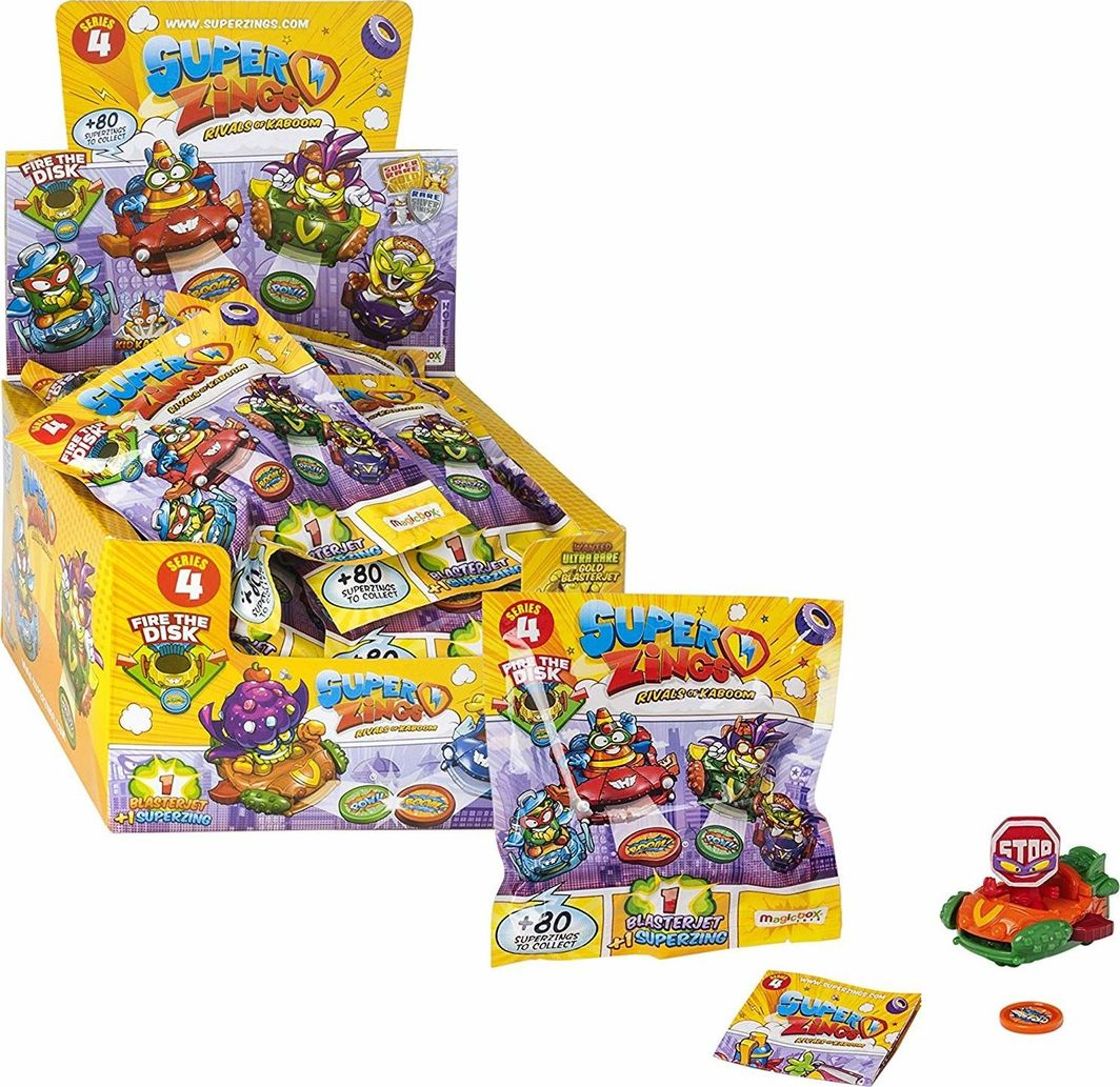 Magic Box Super Zings seria 4 BlasterJet + figurka 1