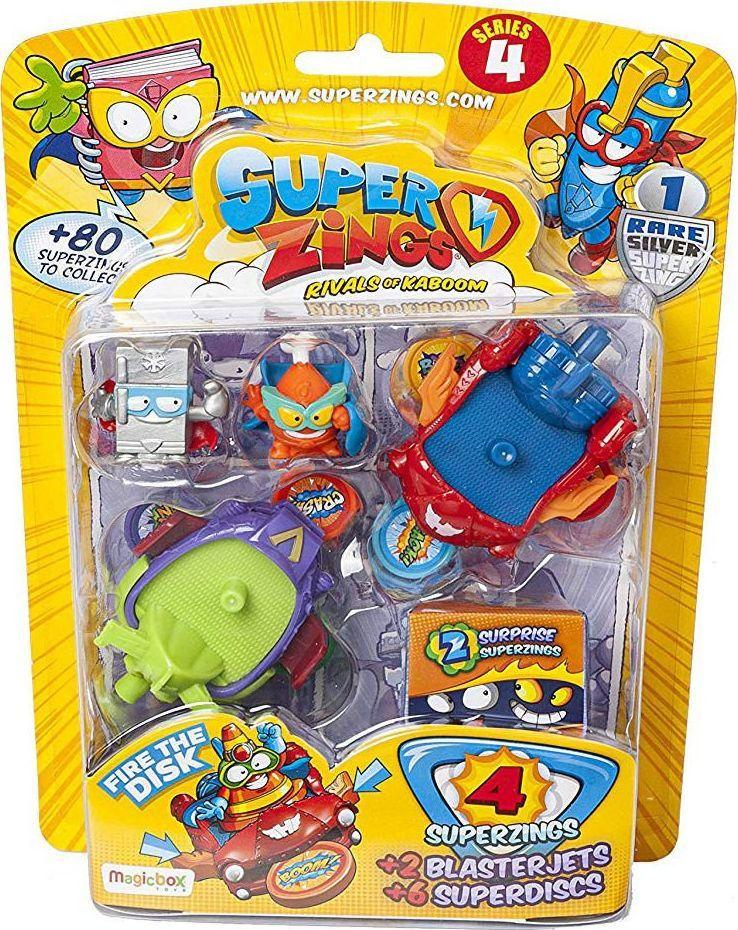 Magic Box Super Zings zestaw 4 figurki + 2 pojazdy z wyrzutnią + 6 dysków 1