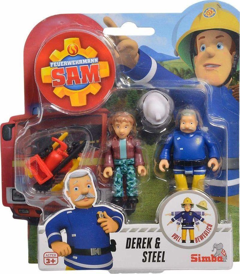 Simba Strażak Sam, 2 figurki Derek i Steel oraz akcesoria 1