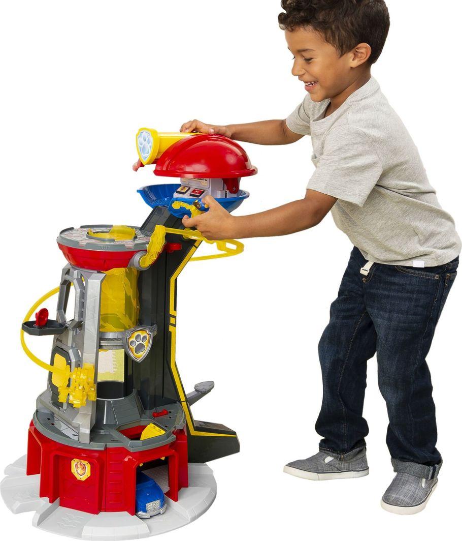 Spin Master Psi Patrol Duża Wieża Baza MightyPups + pojazd Chase z figurką 1