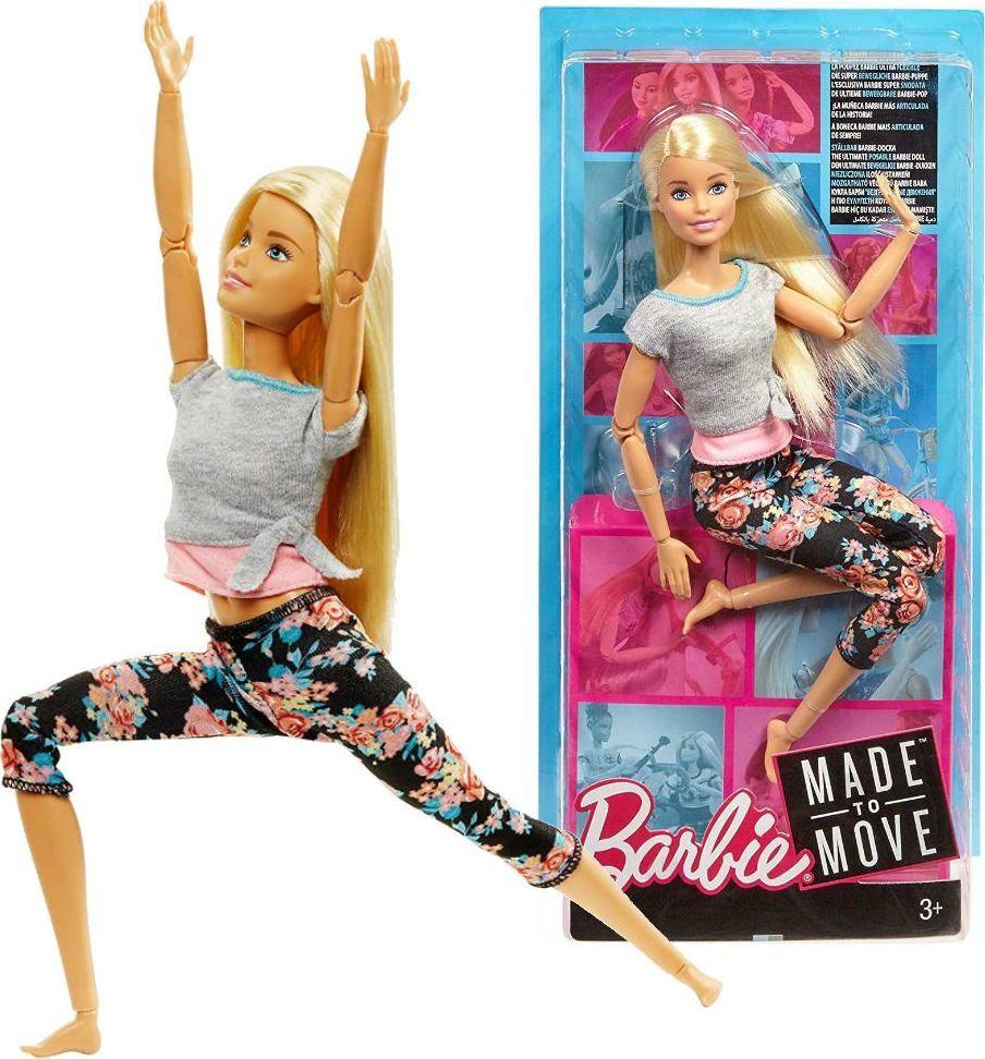 Mattel Barbie Lalka Made to Move Blondynka 1