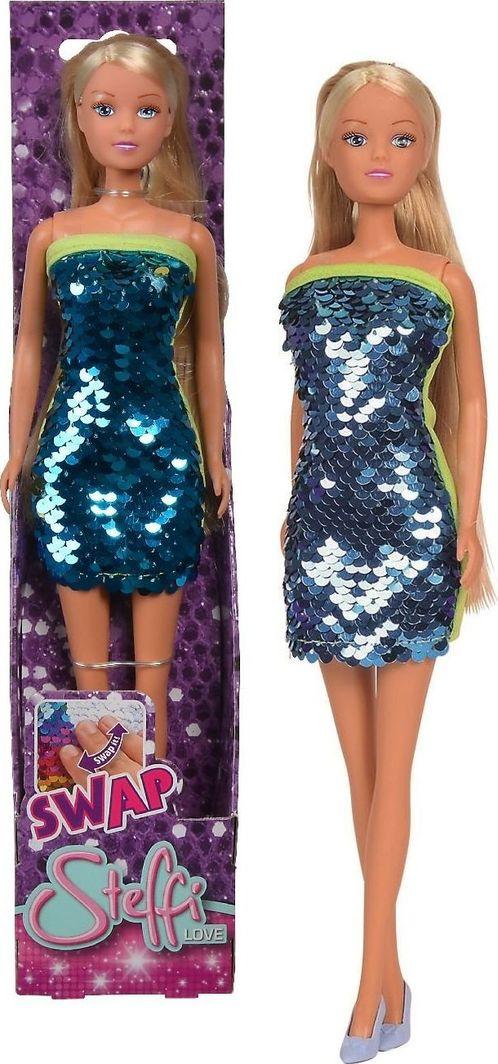 Simba Steffi Love Lalka cekinowy zawrót głowy w niebieskiej sukience 1