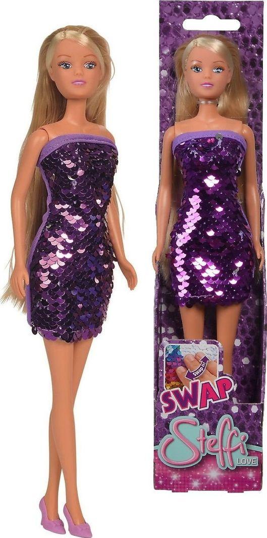 Simba Steffi Love Lalka cekinowy zawrót głowy w fioletowej sukience 1
