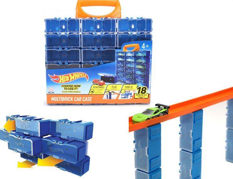 Mattel Mattel Hot Wheels Modułowa skrzynka na samochodziki 18 miejsc HW354003 uniwersalny 1