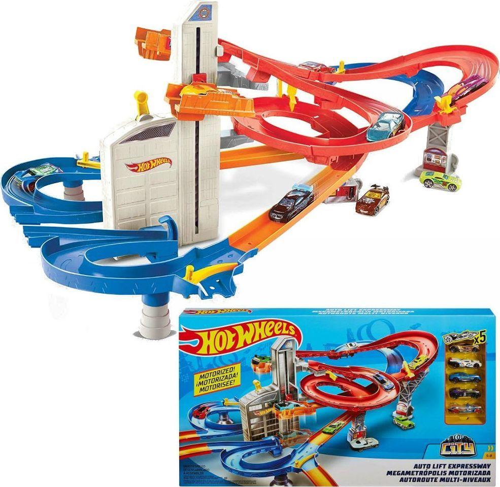 Mattel Hot Wheels automatyczna Winda z torem 5 autek 1
