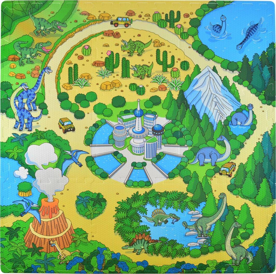Humbi Humbi Puzzle piankowe Mata piankowa edukacycjna Dinozaury 31,5 x 31,5 x 1cm 9 szt. uniwersalny 1