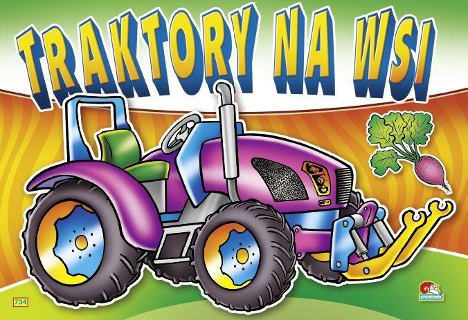Kolorowanka. Traktory na wsi - Traktor fioletowy (B5, 12 str.) 1