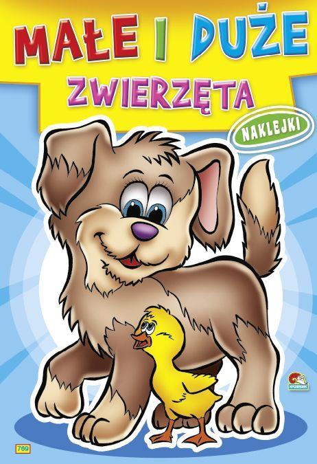 Kolorowanka Małe i duże zwierzęta - Pies z kaczuszką (B5, 16 str.) 1