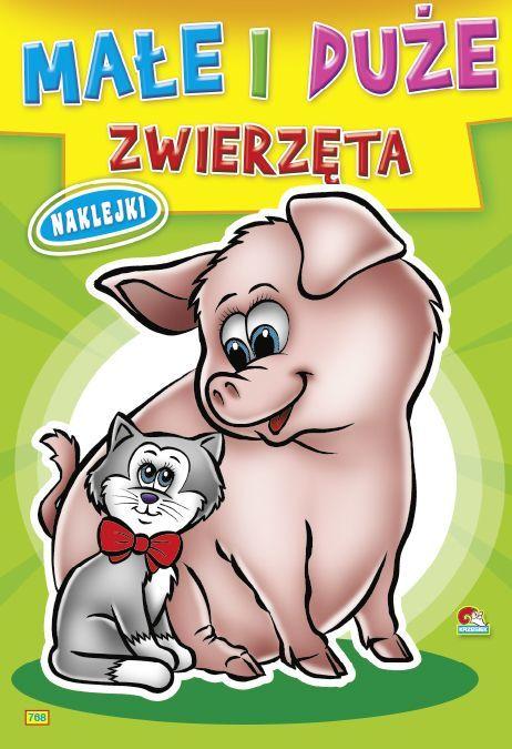 Kolorowanka Małe i duże zwierzęta - Świnka z kotkiem (B5, 16 str.) 1