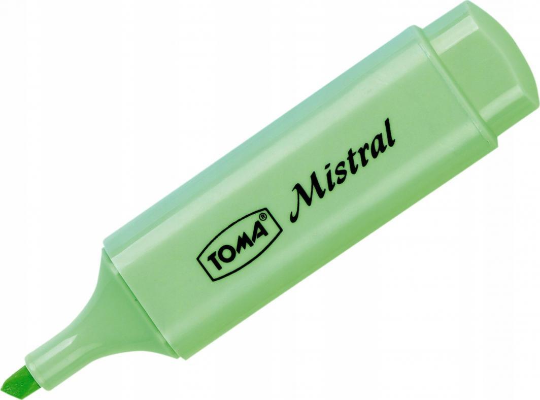 Toma Zakreślacz Mistral pastel zielony TO-334 /10/ 1
