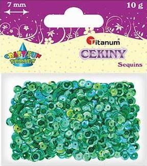 Titanum Cekiny okrągłe niebieskie 7mm 10g.(CO7/050) 1