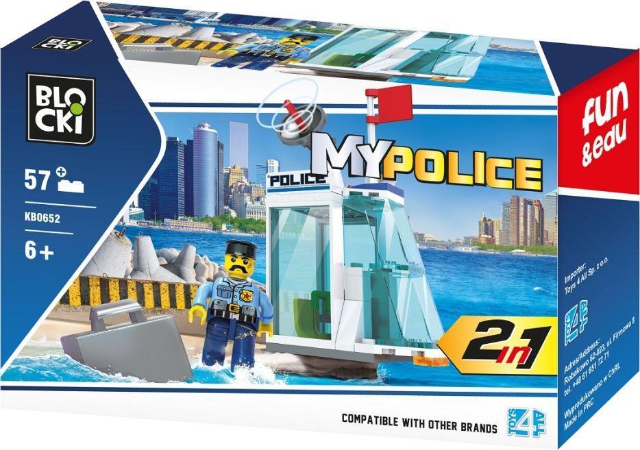Blocki Klocki Blocki MyPolice 2 W 1 57 elementów (KB0652) 1