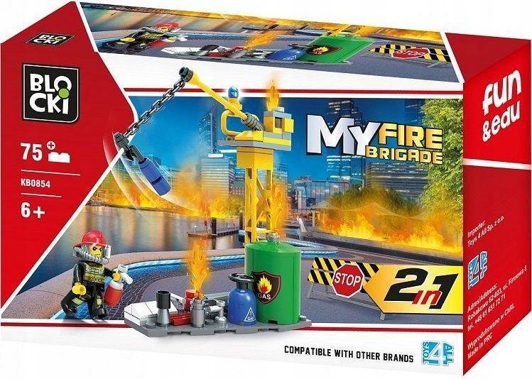 Blocki Klocki Blocki MyFireBrigade 2w1 75 elementów (KB0854) 1