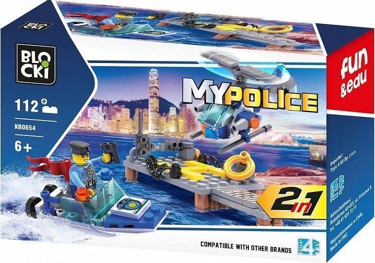 Blocki Klocki Blocki MyPolice 2w1 112 elementów 1