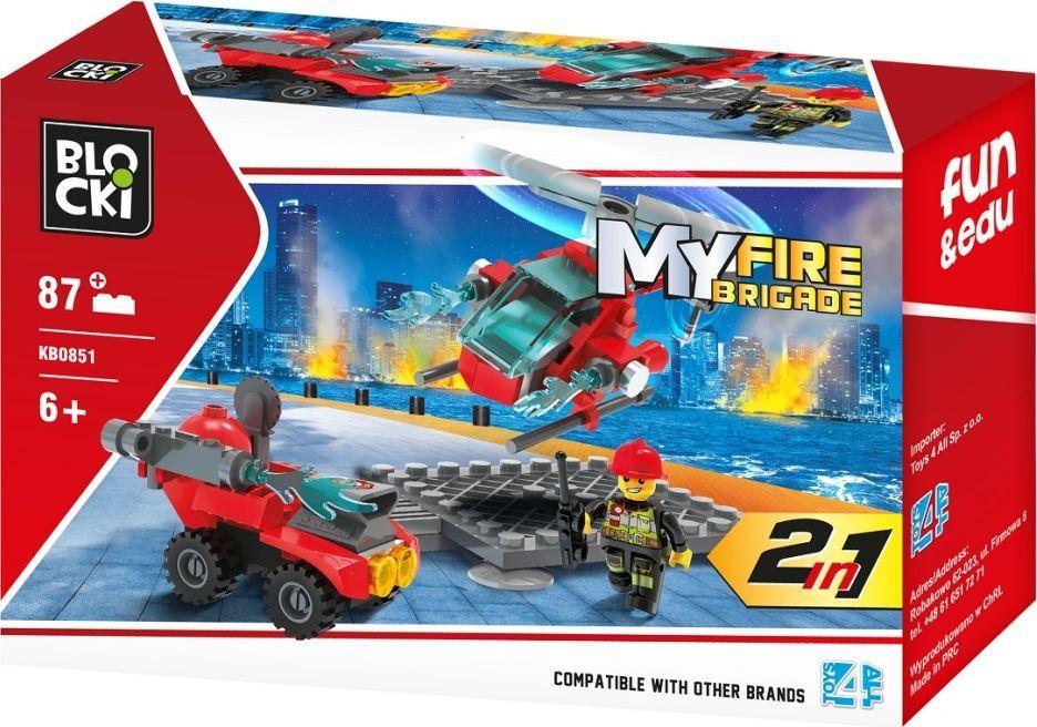 Blocki Klocki Blocki MyFireBrigade 2w1 87 elementów (KB0851) 1