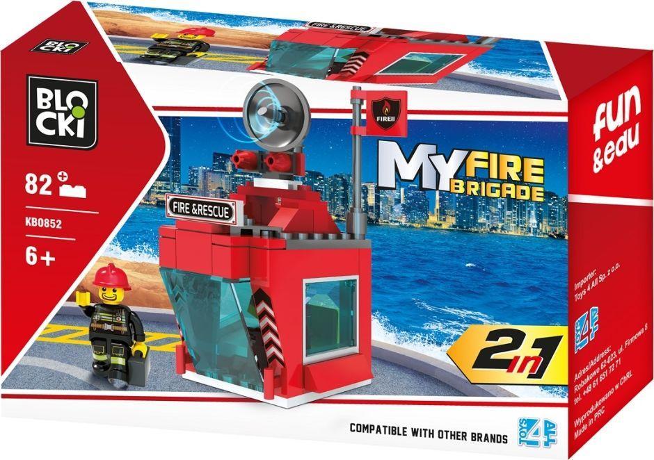 Blocki Klocki Blocki MyFireBrigade 2w1 82 elementów (KB0852) 1