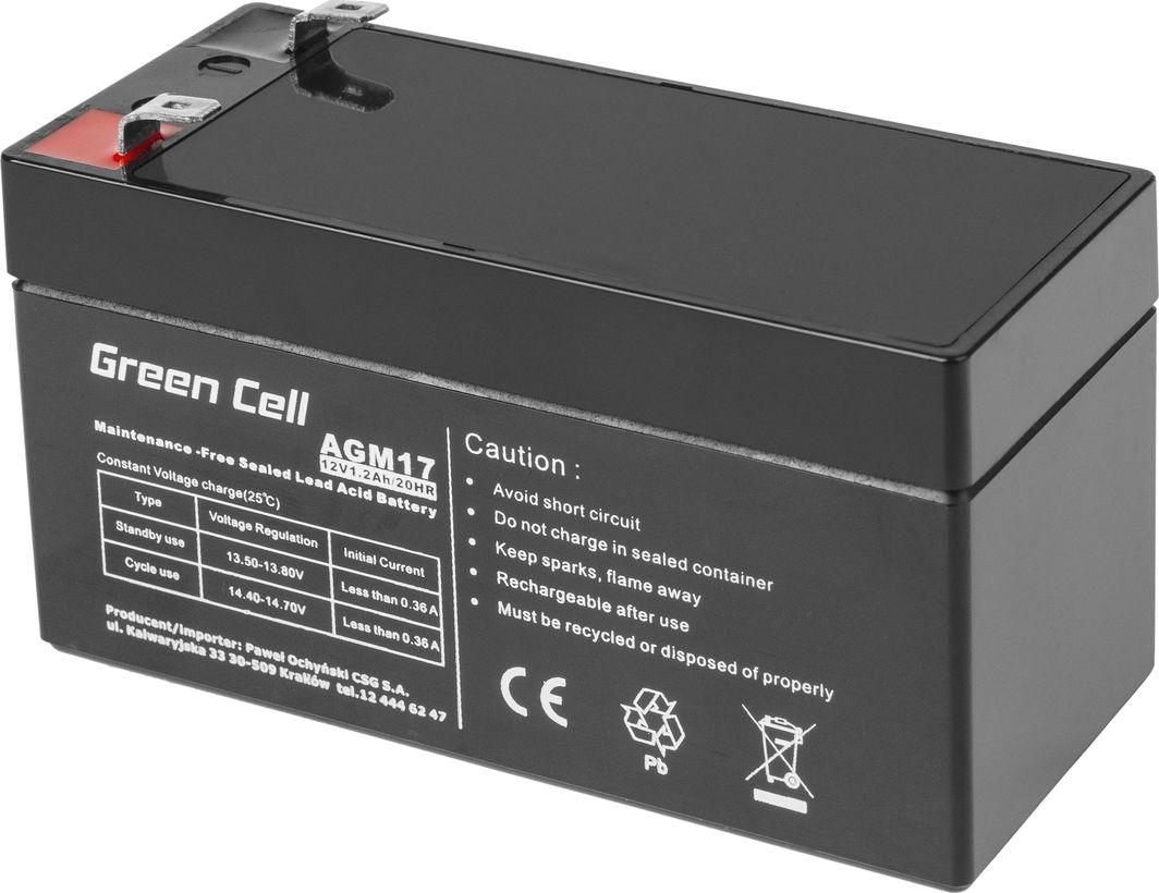 Green Cell Akumulator AGM VRLA 12V 1.2Ah 1