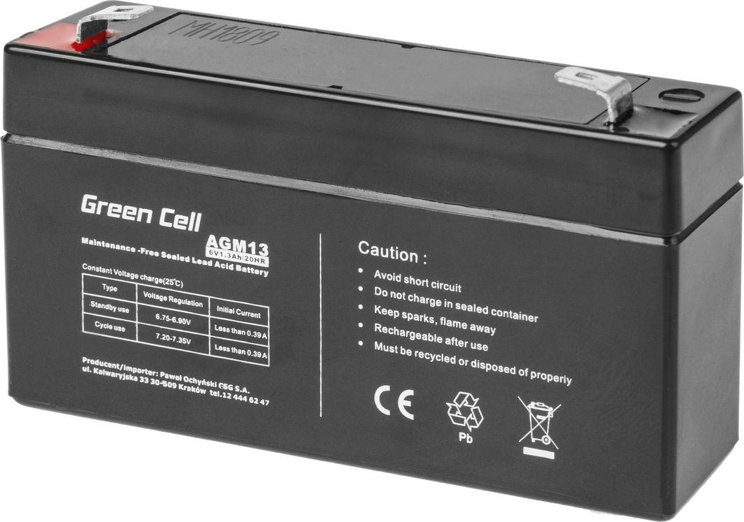Green Cell Akumulator AGM VRLA Green Cell 6V 1.3Ah 1