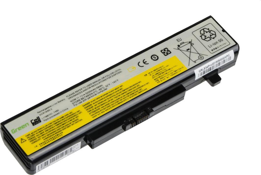 Bateria Green Cell Green Cell PRO Bateria do Lenovo Y480 V480 Y580 / 11,1V 5200mAh 1