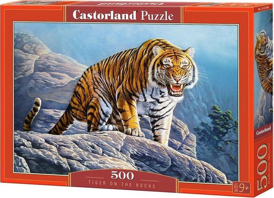 Castorland Puzzle 500 Tygrys na skłach 1