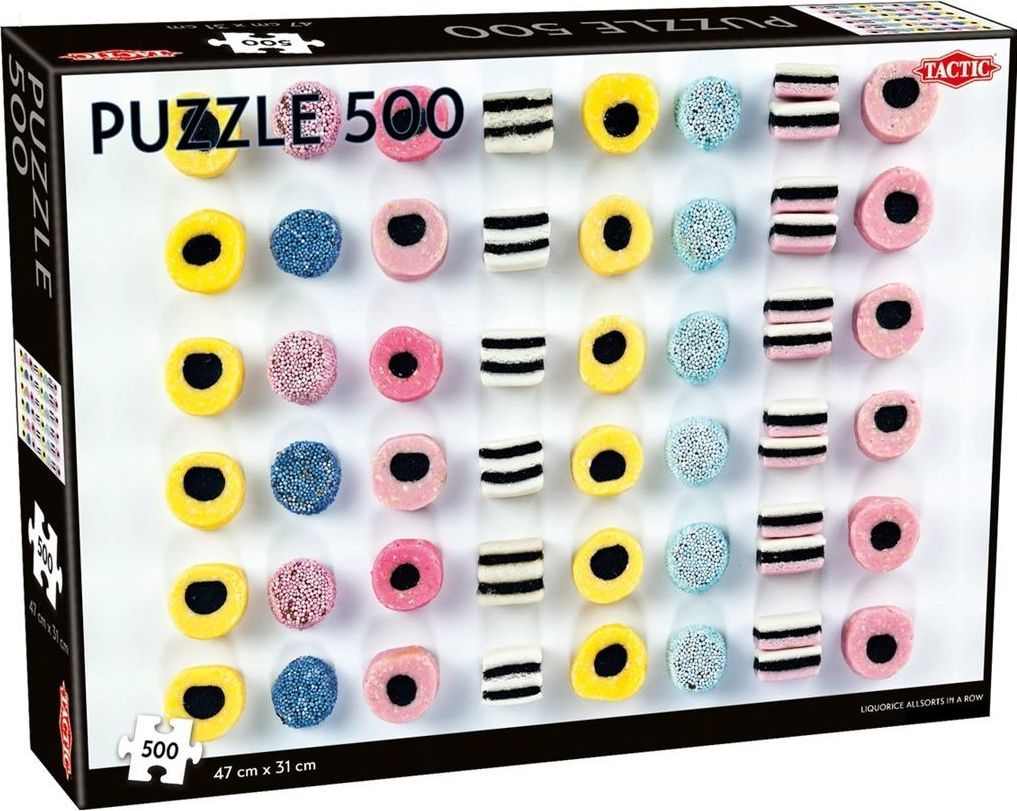 Tactic Puzzle 500 Liquorice allsorts in a row 1