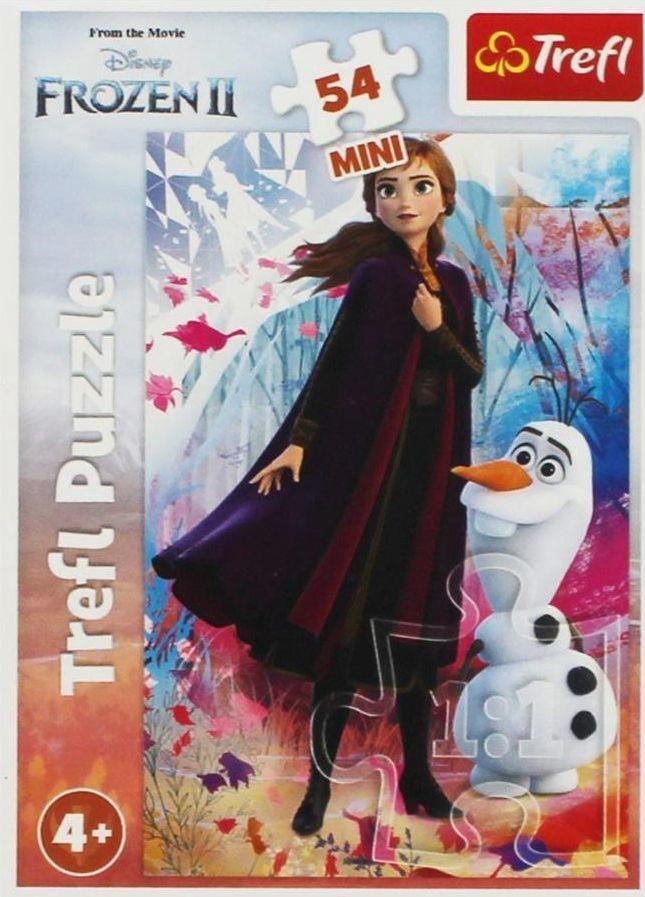Trefl Puzzle 54 mini W świecie Anny i Elsy 1 1