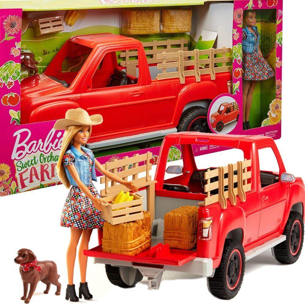 Mattel Barbie Farmerka Auto pickup z lalką (GFF52) 1