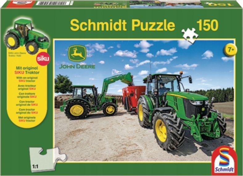 Schmidt Spiele Puzzle John Deere Tractors of the 5M + zabawka 1