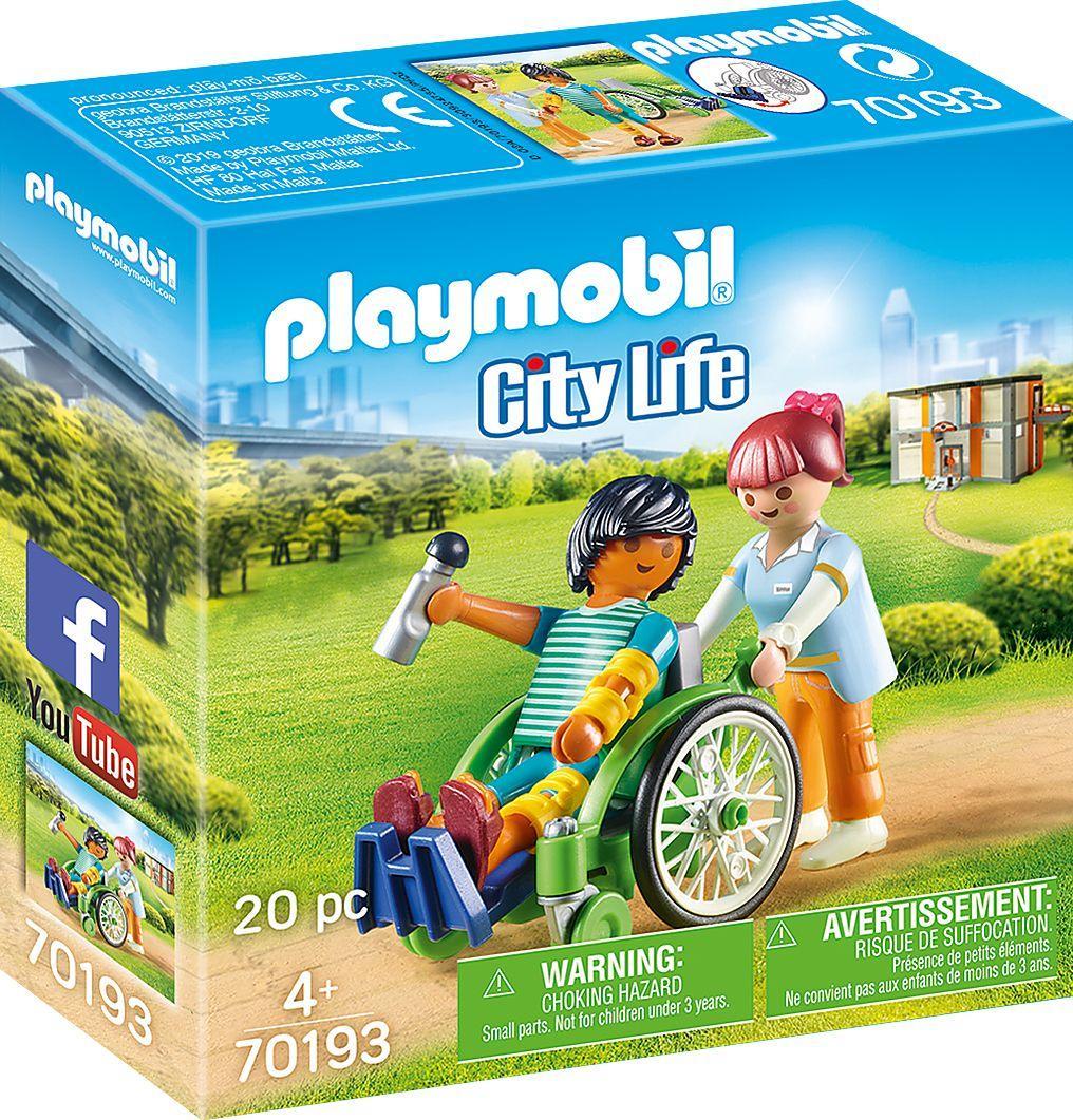 Playmobil Pacjent na wózku inwalidzkim (70193) 1