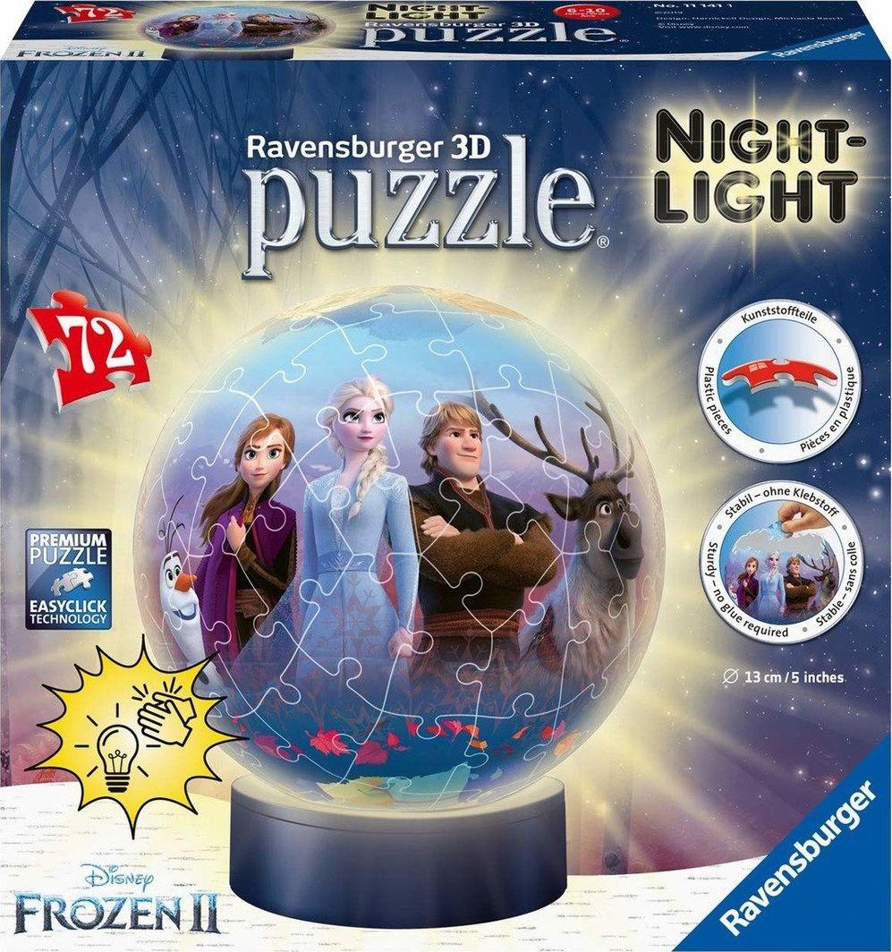Ravensburger Ravensburger 3D Puzzle-Ball Frozen 2 Nightlight - 11141 1