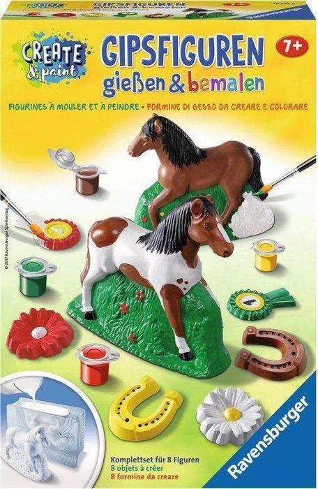 Ravensburger Ravensburger plaster figures + paint: horse - 285228 1