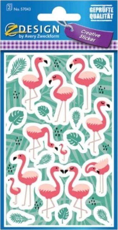 Avery Zweckform Naklejki papierowe - Flamingi 1