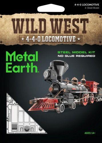Metal Earth Metal Earth Wild West 4-4-0 Locomotive, Model(stainless steel) 1