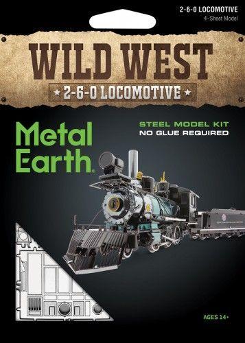 Metal Earth Metal Earth Wild West 2-6-0 locomotive, model(stainless steel) 1