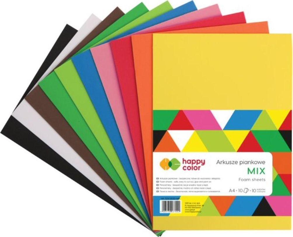 Happy Color Arkusze piankowe A4/10K Mix 10 kolor. HAPPY COLOR 1