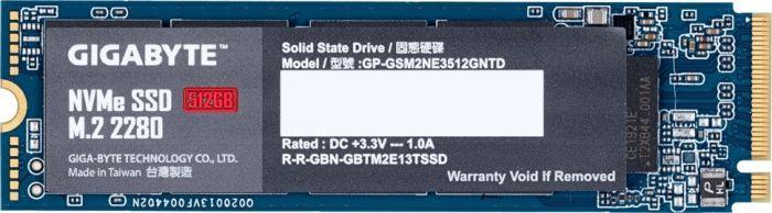 Dysk SSD Gigabyte 512 GB M.2 2280 PCI-E x4 Gen3 NVMe (GP-GSM2NE3512GNTD) 1
