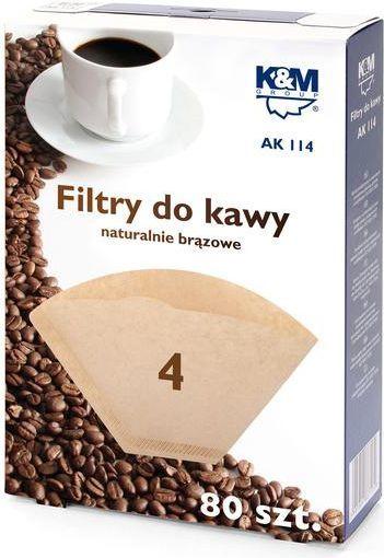 K&M Filtr do kawy, rozmiar 4, 80szt. 1