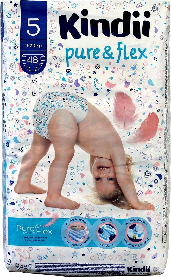 Kindii Kindii Pure & Flex Pieluchy jednorazowe 5 (11-20kg) 1op.-48szt 1