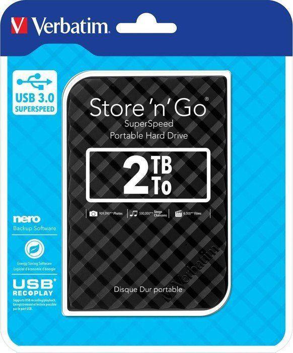 Dysk zewnętrzny Verbatim HDD Store 'n' Go 2 TB Antracyt (53195) 1