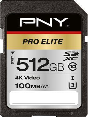 Karta PNY Pro Elite SDXC 512 GB Class 10 UHS-I/U3  (P-SD512U3100PRO-GE) 1