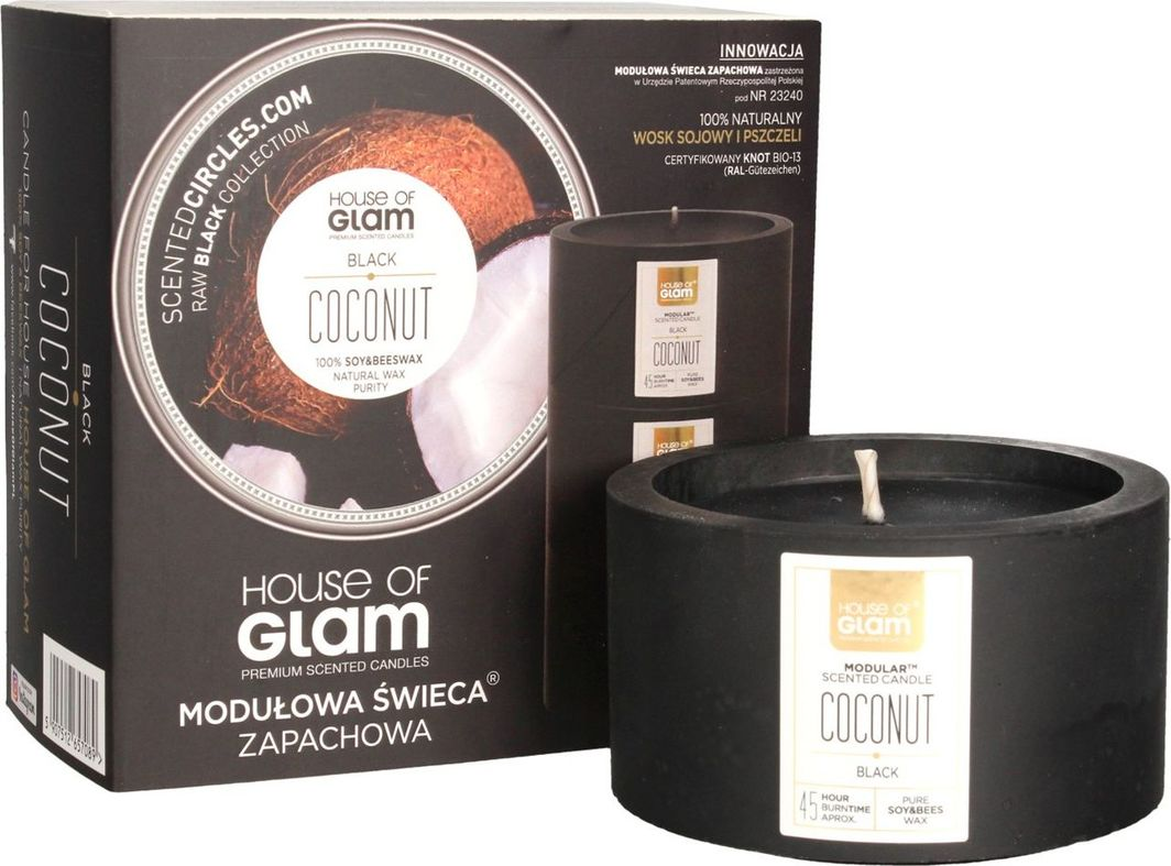 House of Glam House Of Glam Modułowa Świeca zapachowa Black Coconut 200g 1