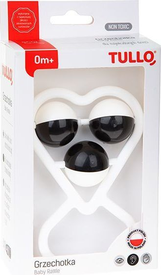 AM Tullo Grzechotka czarno-biała Serce w pudełku 157 TULLO 1