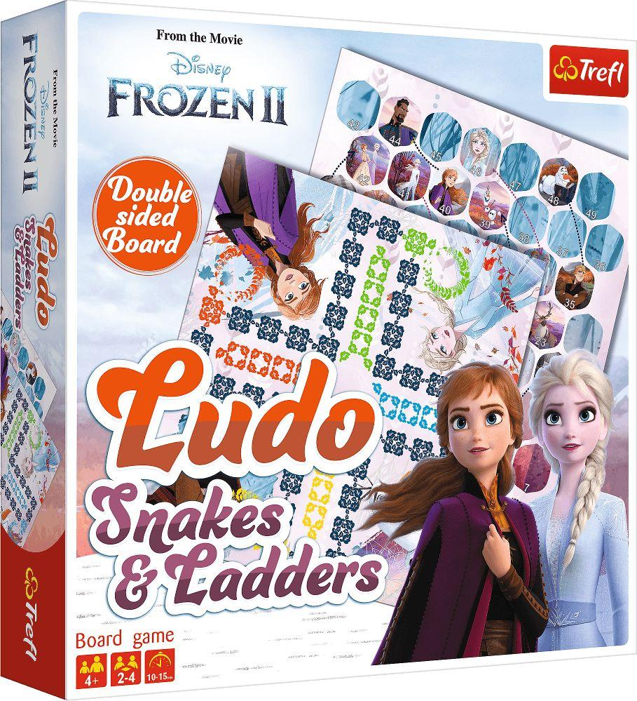 Trefl Gra planszowa Ludo Węże i drabiny Disney Frozen 2 1