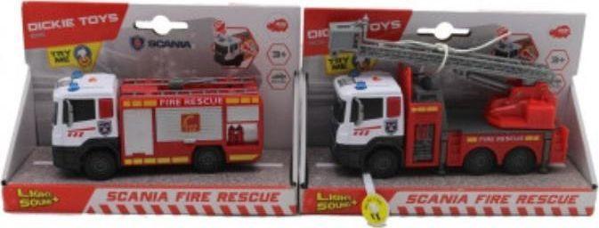Dickie Straż pożarna Scania metalowa 17cm 2 rodzaje 1